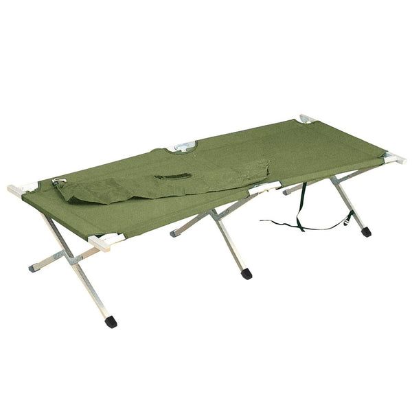 Army Surplus Folding Cot - OD Green