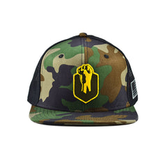 Uppercut Tactical Patch Flat Bill Trucker Hat - Camo / Black