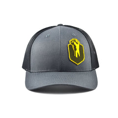 Uppercut Tactical Patch 5-Panel Hat - Charcoal / Black