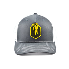 Uppercut Tactical Patch 5-Panel Hat - Charcoal / White