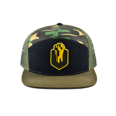 Uppercut Tactical Patch 7-Panel Trucker Hat - Tri-Color Camo