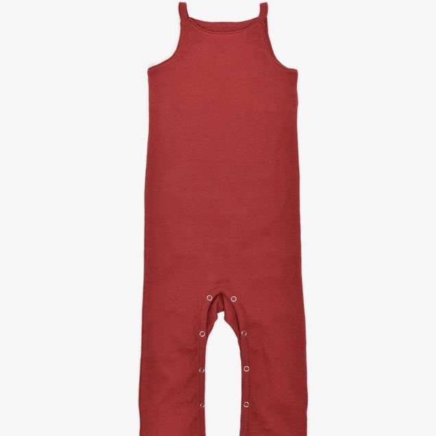Organic Snap Jumper Bayou with Love Burgundy 0-3M