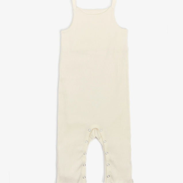 Organic Snap Jumper Bayou with Love Cream 0-3M