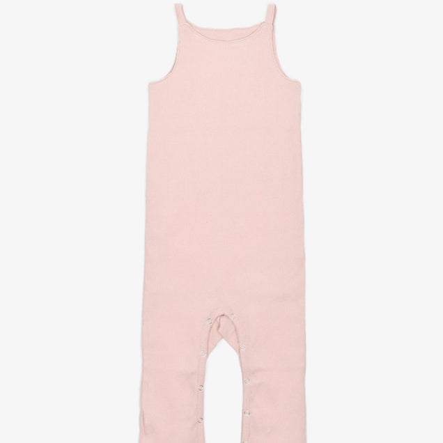 Organic Snap Jumper Bayou with Love Dusty Rose 0-3M