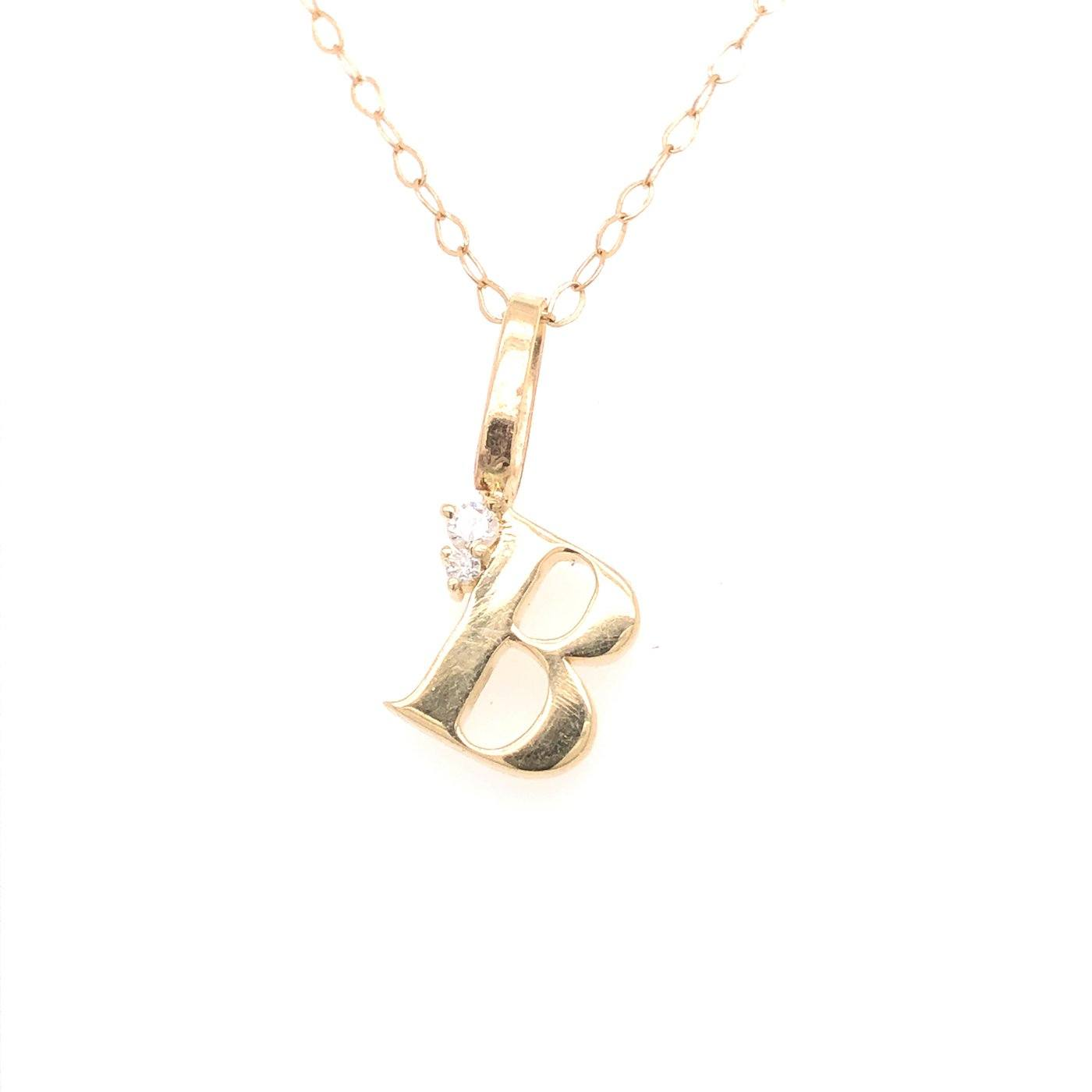 Gold and Diamond Initial Charms Jewelry Bayou with Love