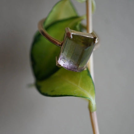 Bicolor Tourmaline Ring Bayou with Love
