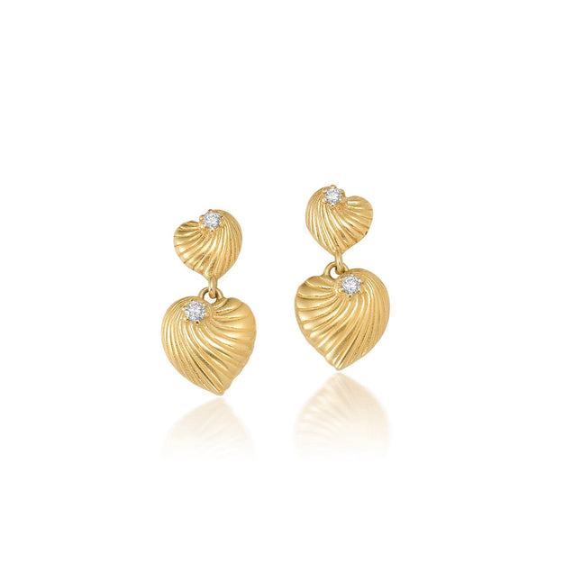 Diamond Bayou Heart Earrings Bayou with Love