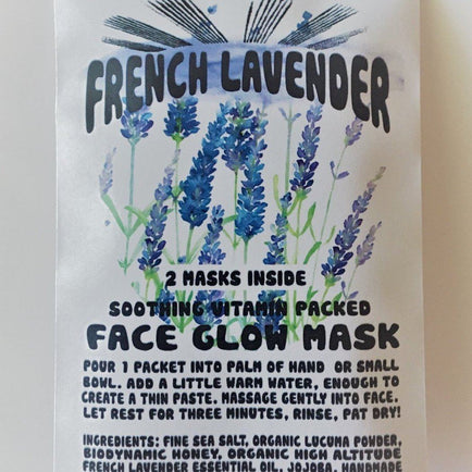 French Lavender Face Glow Mask Beauty Wild Honey Botanical