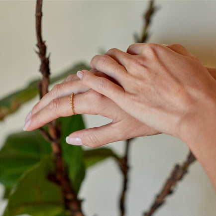 Gold Ball Ring (Bayou With Love x Dell) Jewelry Bayou with Love