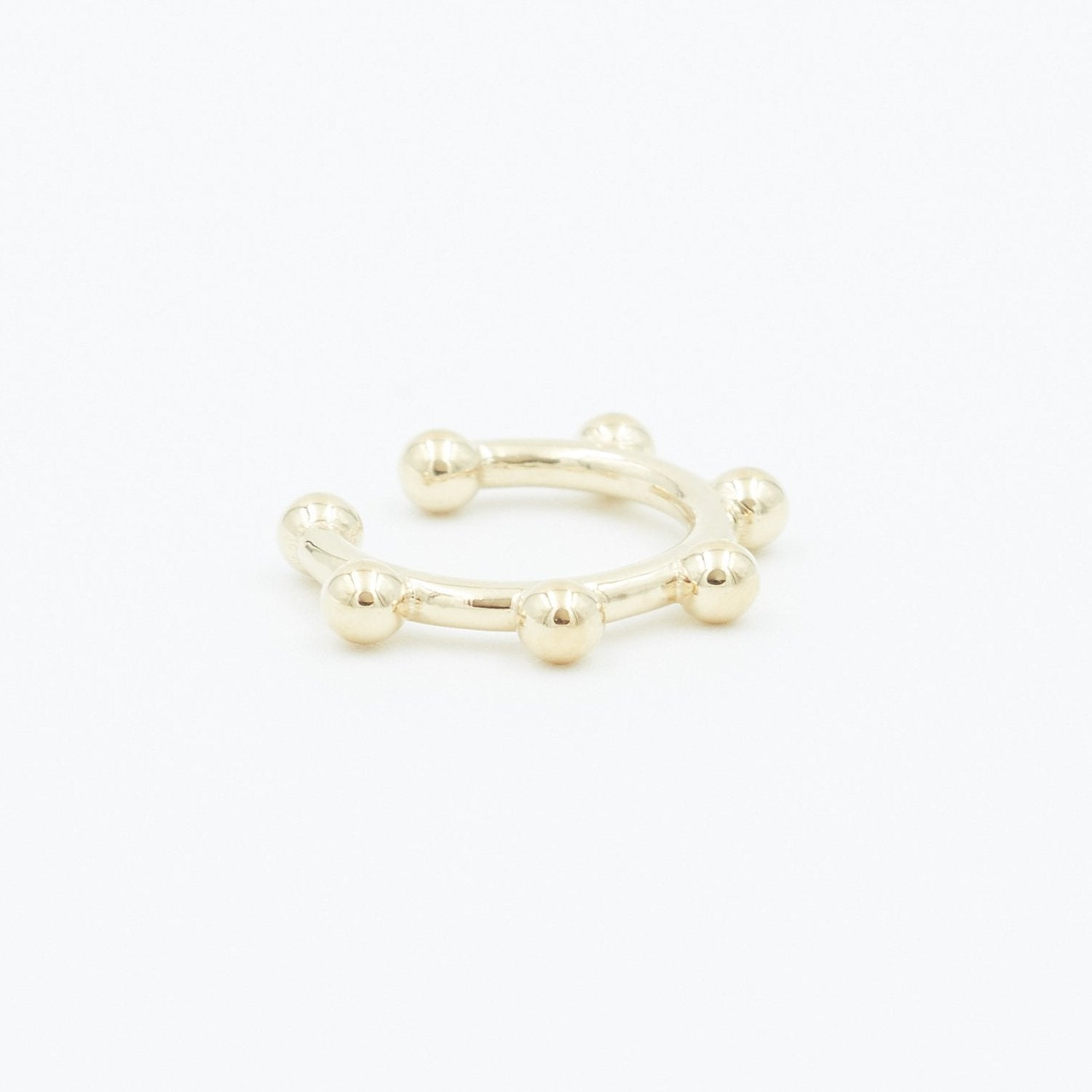 Gold Ball Ear Cuff Jewelry Bayou with Love
