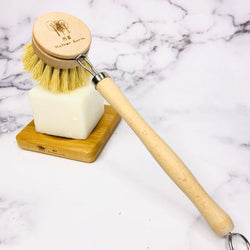 Coated Long Handle Sisal Kitchen Brush Home Me Mother Earth