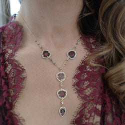 Tourmaline Lariat Necklace Bayou with Love