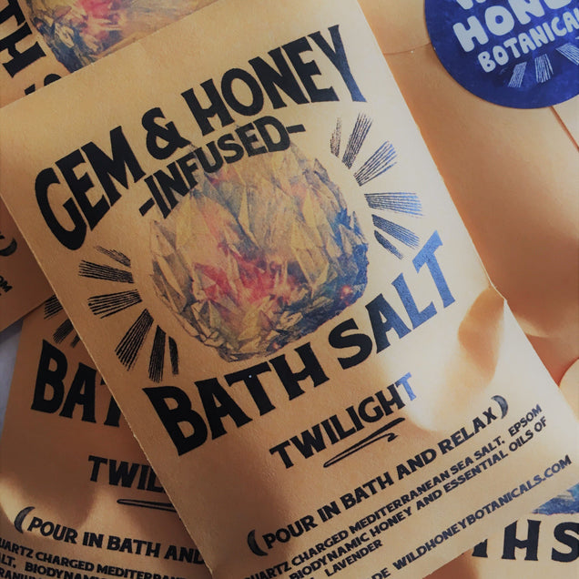 GEM & HONEY INFUSED Bath Salts Beauty Wild Honey Botanical
