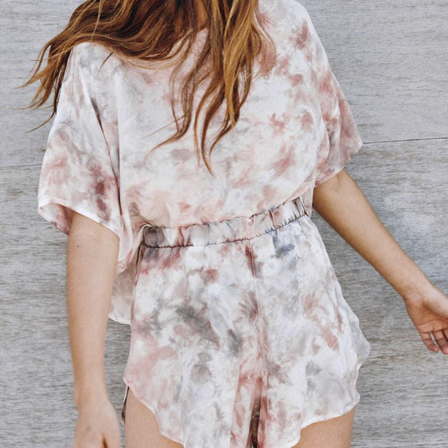 CUPRO DUSTY ROSE PETAL SHORTS // BAYOU WITH LOVE