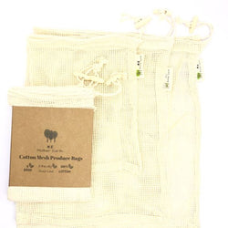 Reusable Cotton Produce Bags- 3PK Home Me Mother Earth