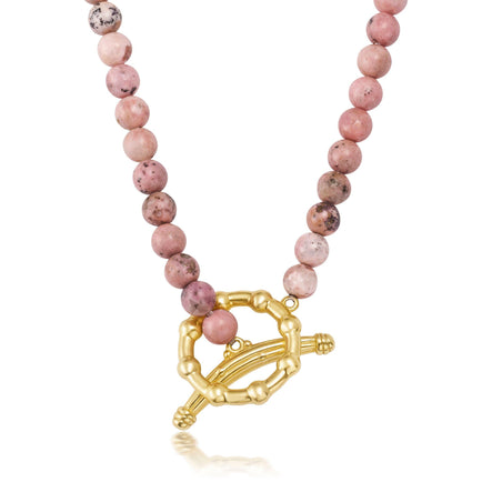 Rhodonite Soleil Necklace Bayou with Love
