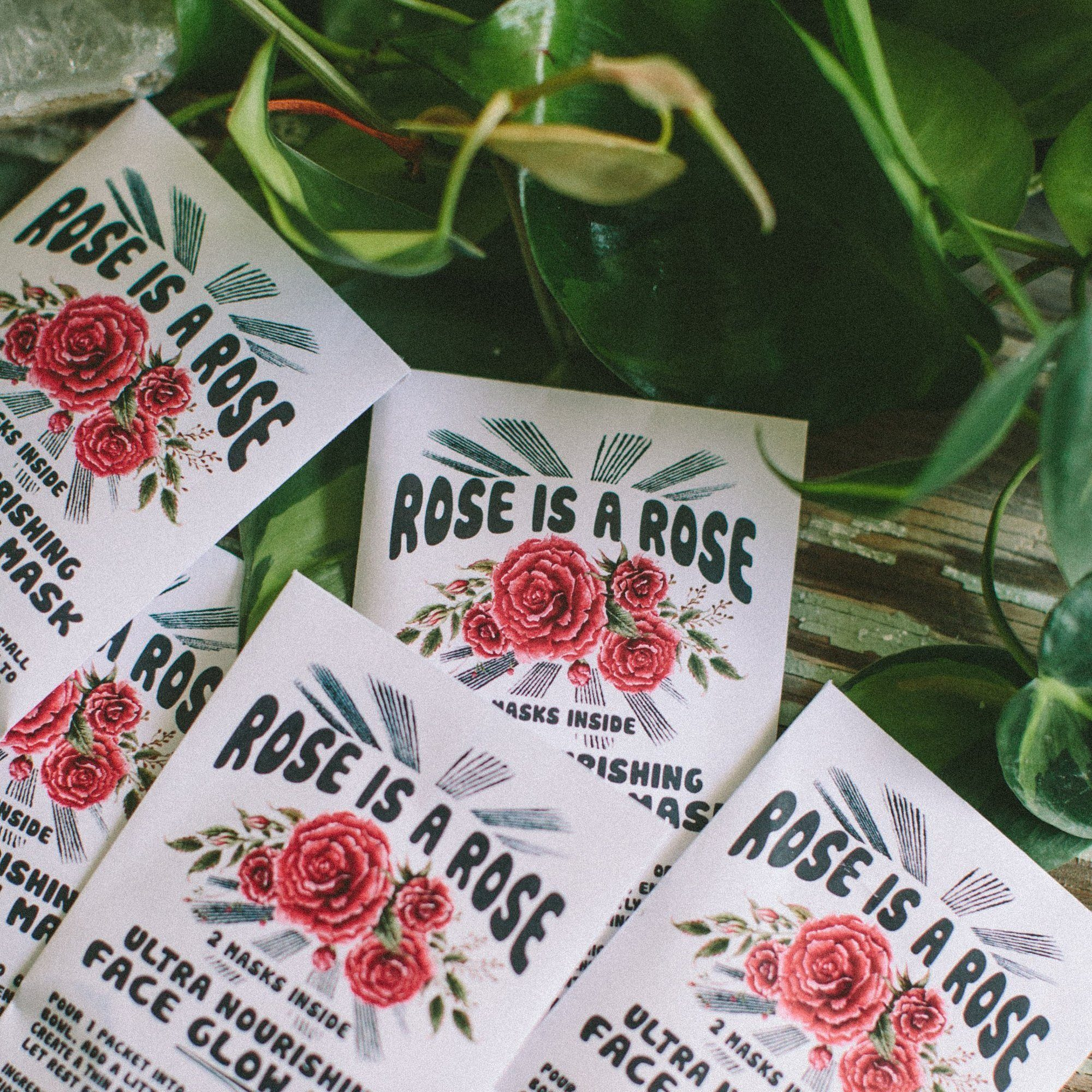 Rose Is A Rose Face Glow Mask Beauty Wild Honey Botanical