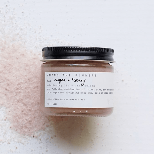 Raw Honey + Sugar | Exfoliating Lip Face Polish Among the Flowers