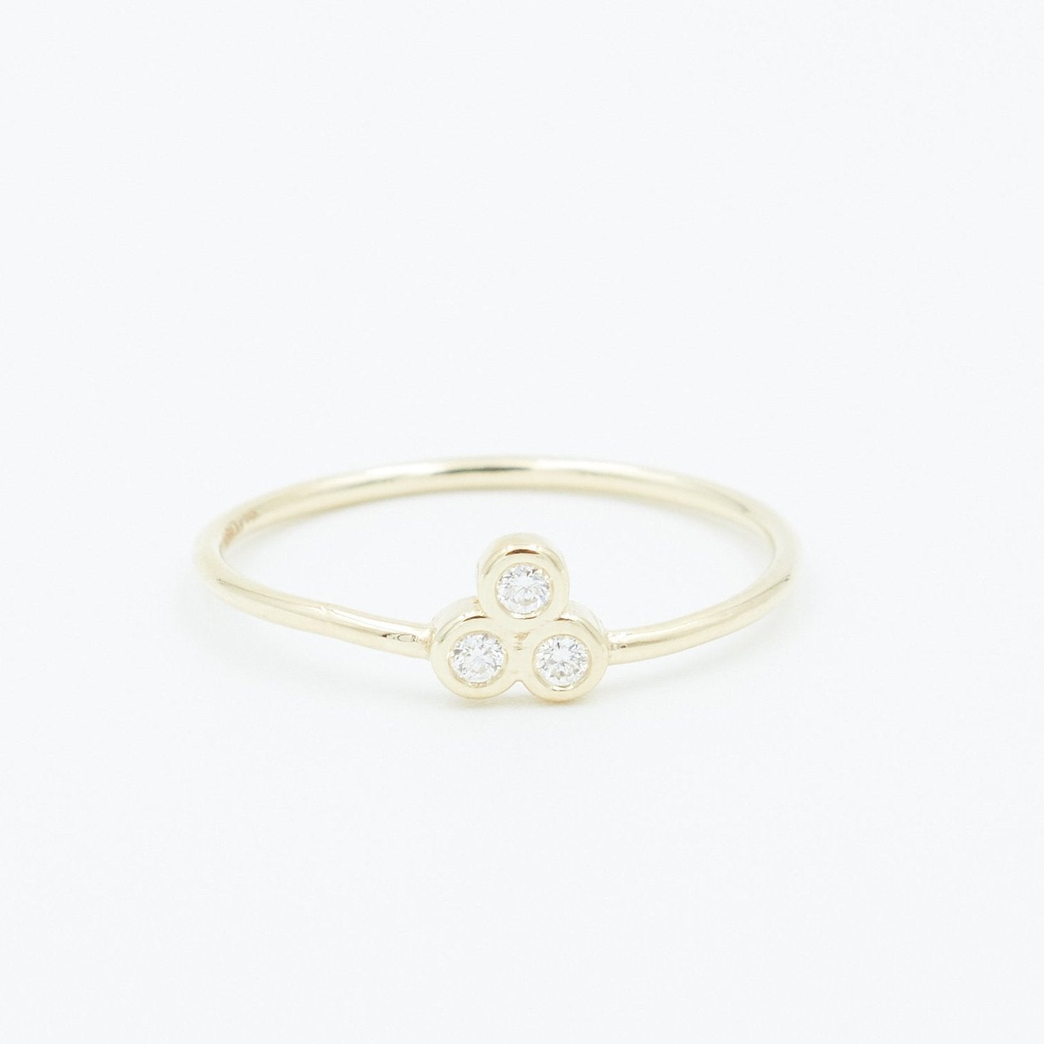 TRIPLE DIAMOND RING Jewelry Bayou with Love