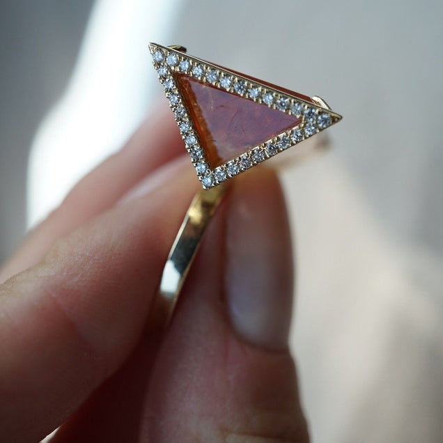 Triangle Topaz Ring Bayou with Love