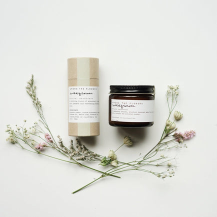 WILDFLOWER NATURAL DEODORANT // AMONG THE FLOWERS
