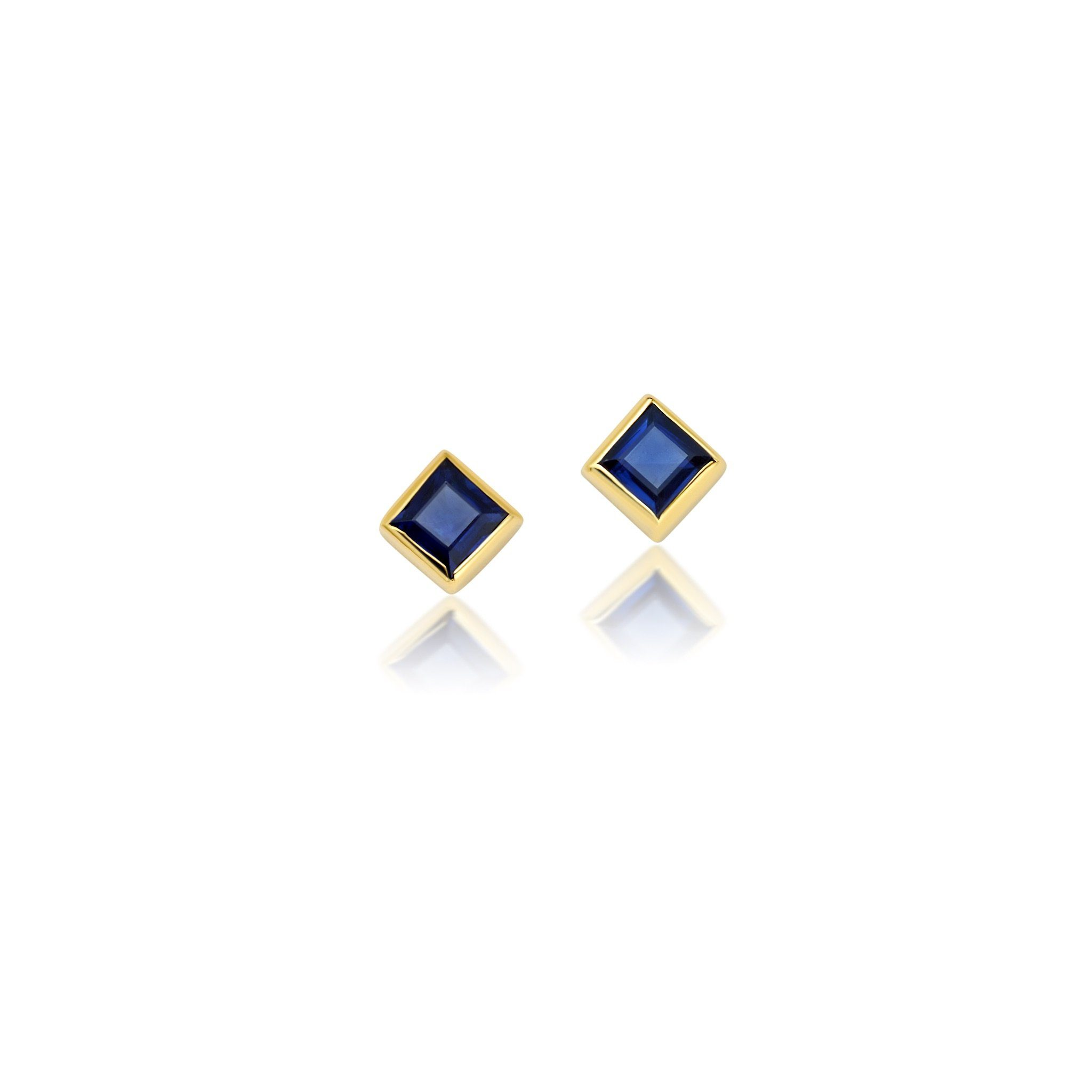 SAPPHIRE SQUARE STUD EARRINGS Jewelry Bayou with Love