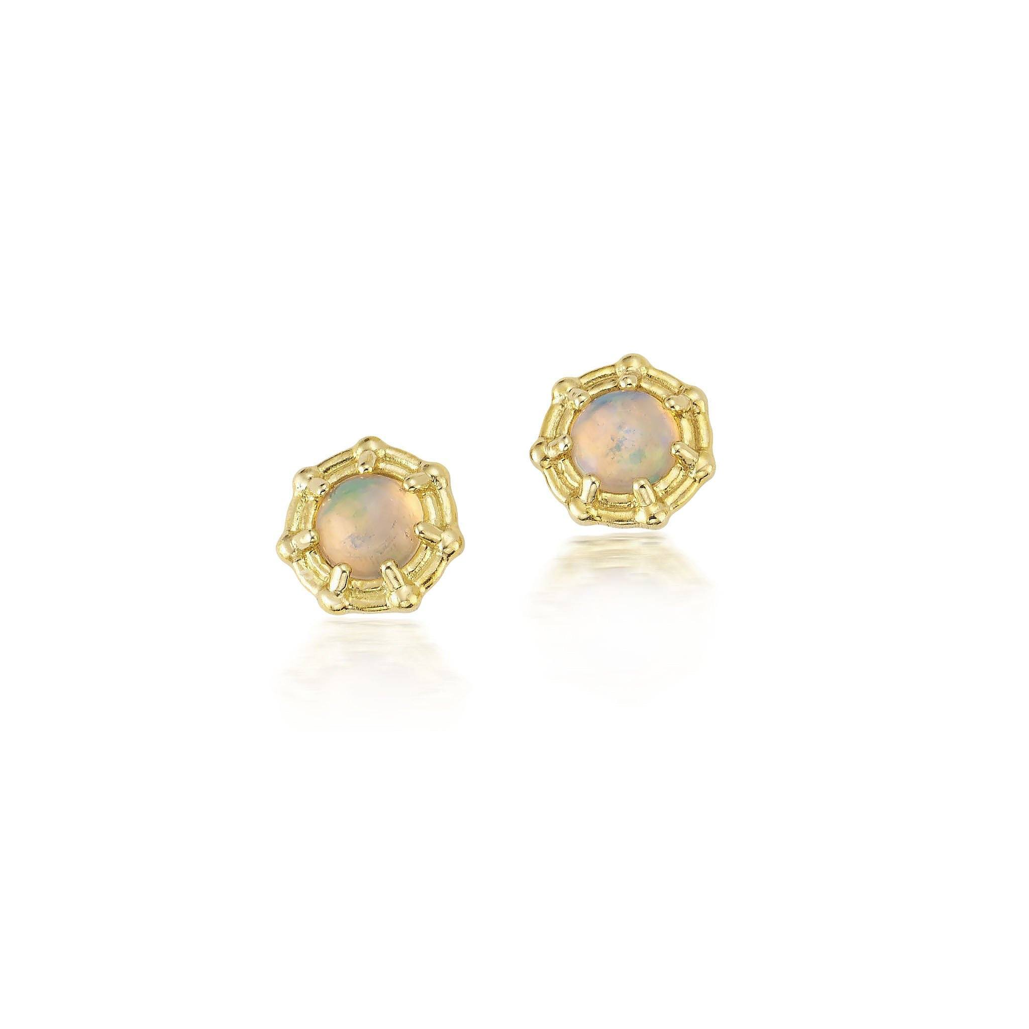 Opal Rattan Studs Jewelry Bayou with Love