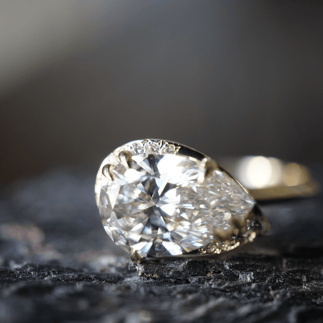 Lunar Pear Engagement Ring Bayou with Love