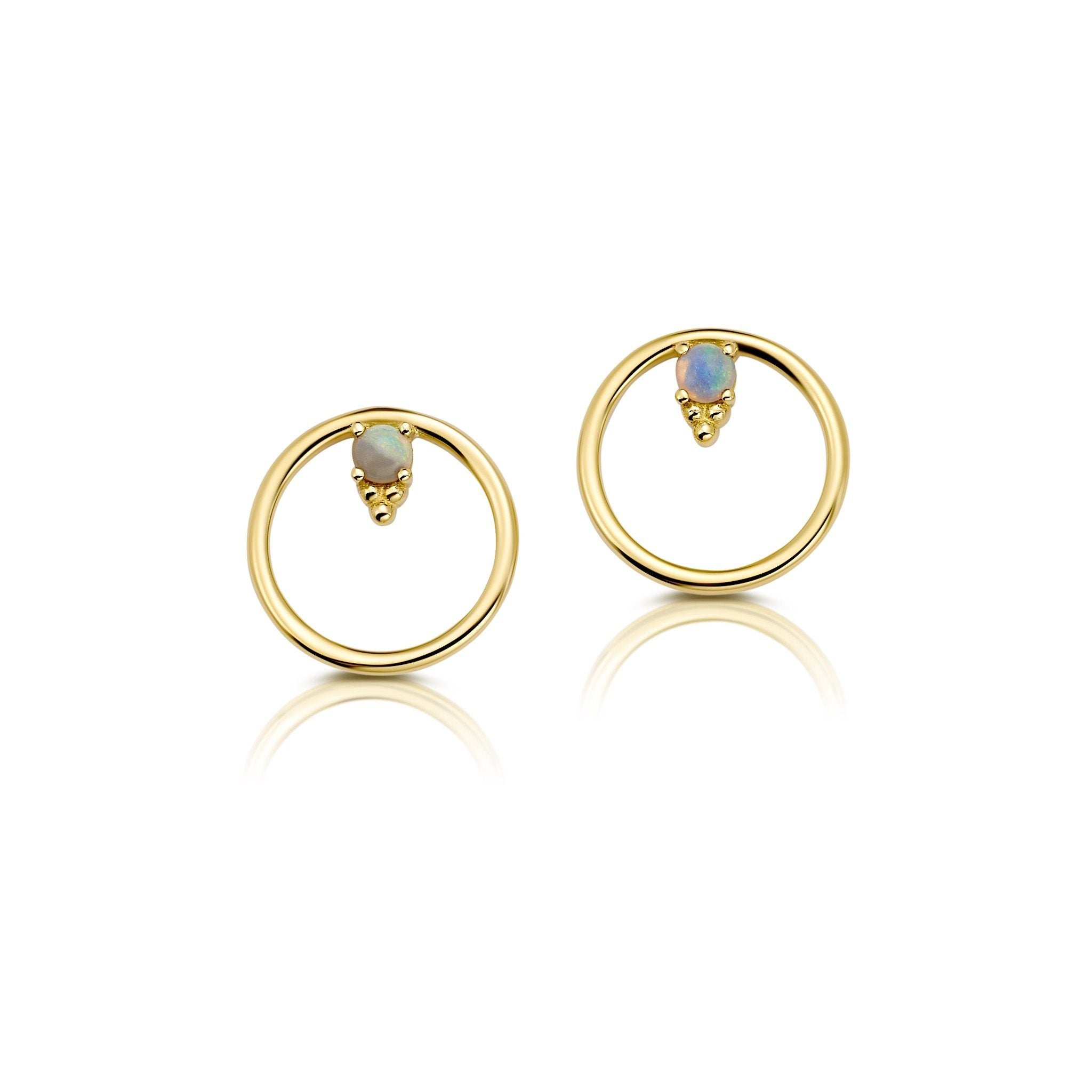 Circle Opal Earring Jewelry Bayou with Love