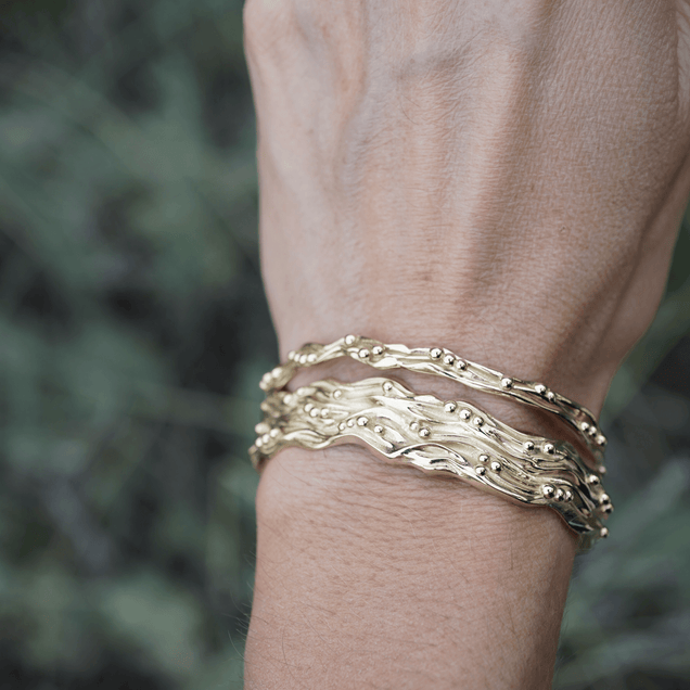 The Large Golden Rio Cuff Jewelry Bayou with Love