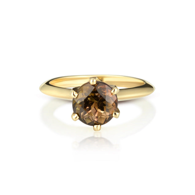 Solitaire Tourmaline Ring Bespoke Jewelry Bayou with Love