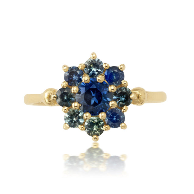 Mini Sapphire Sunflower Ring Jewelry Bayou with Love