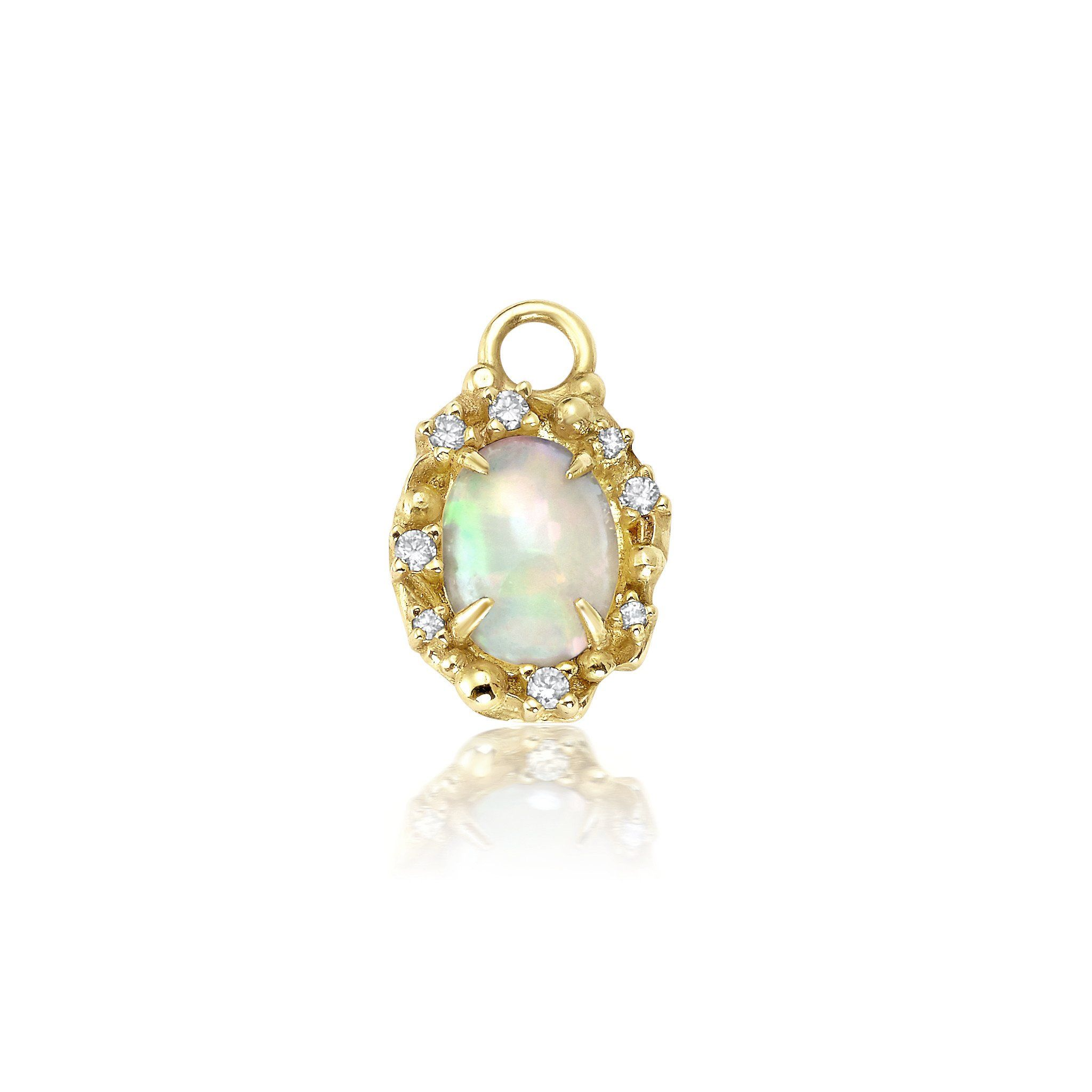 Diamond Opal Charm Bayou with Love