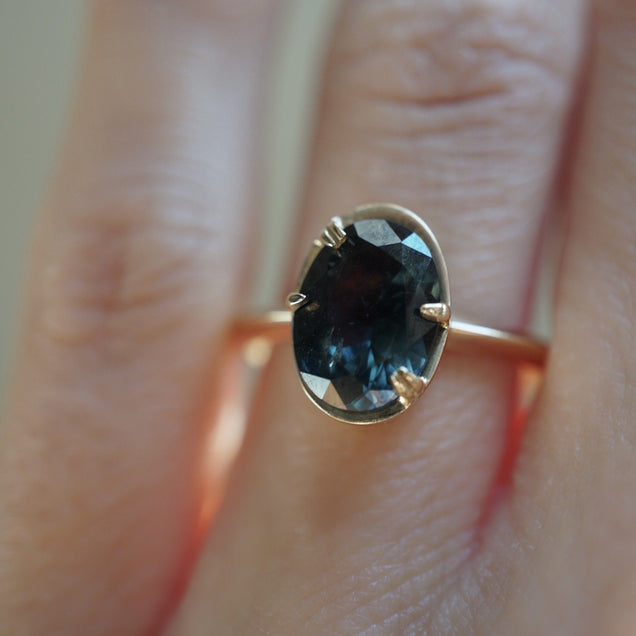 Peacock Sapphire Engagement Ring Bridal Jewelry Bayou with Love