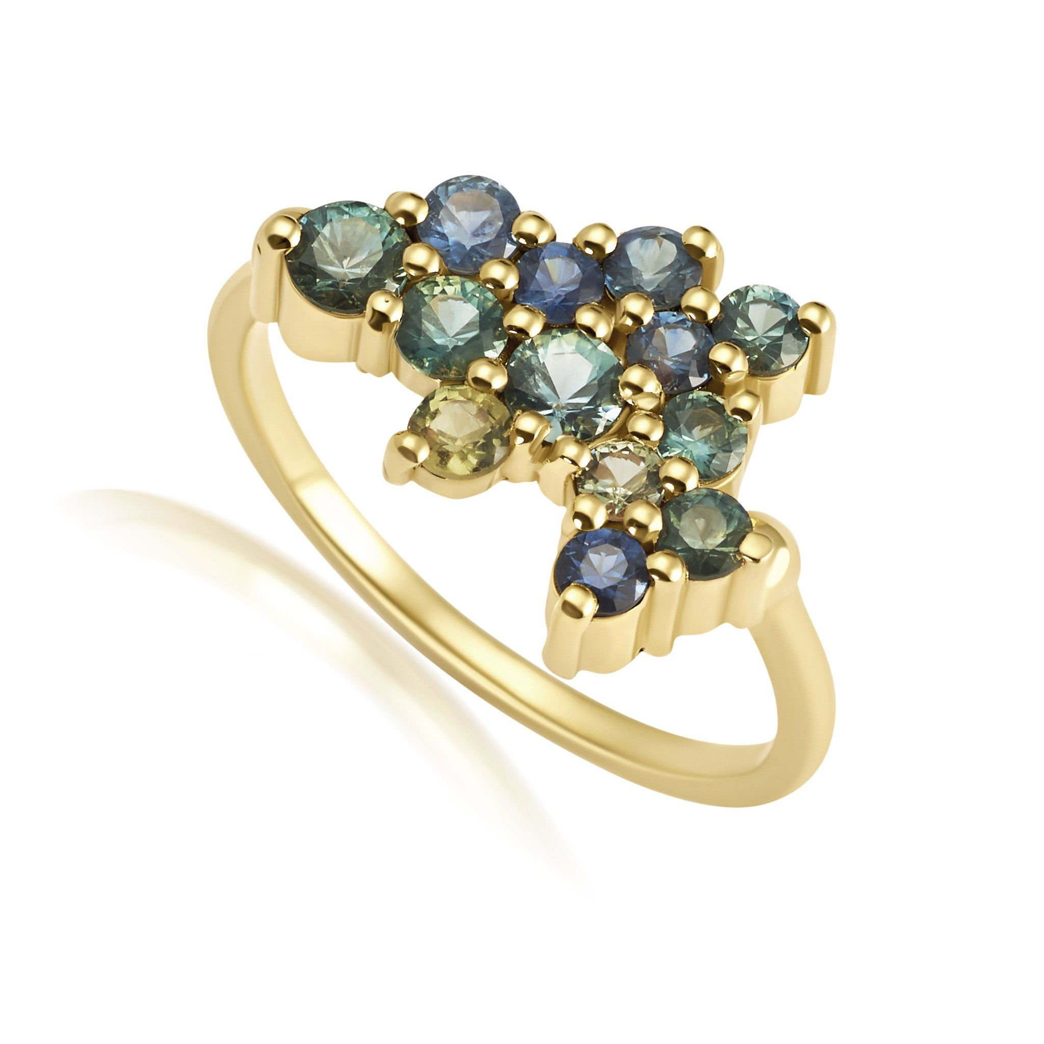 Sapphire Constellation Ring Jewelry Bayou with Love