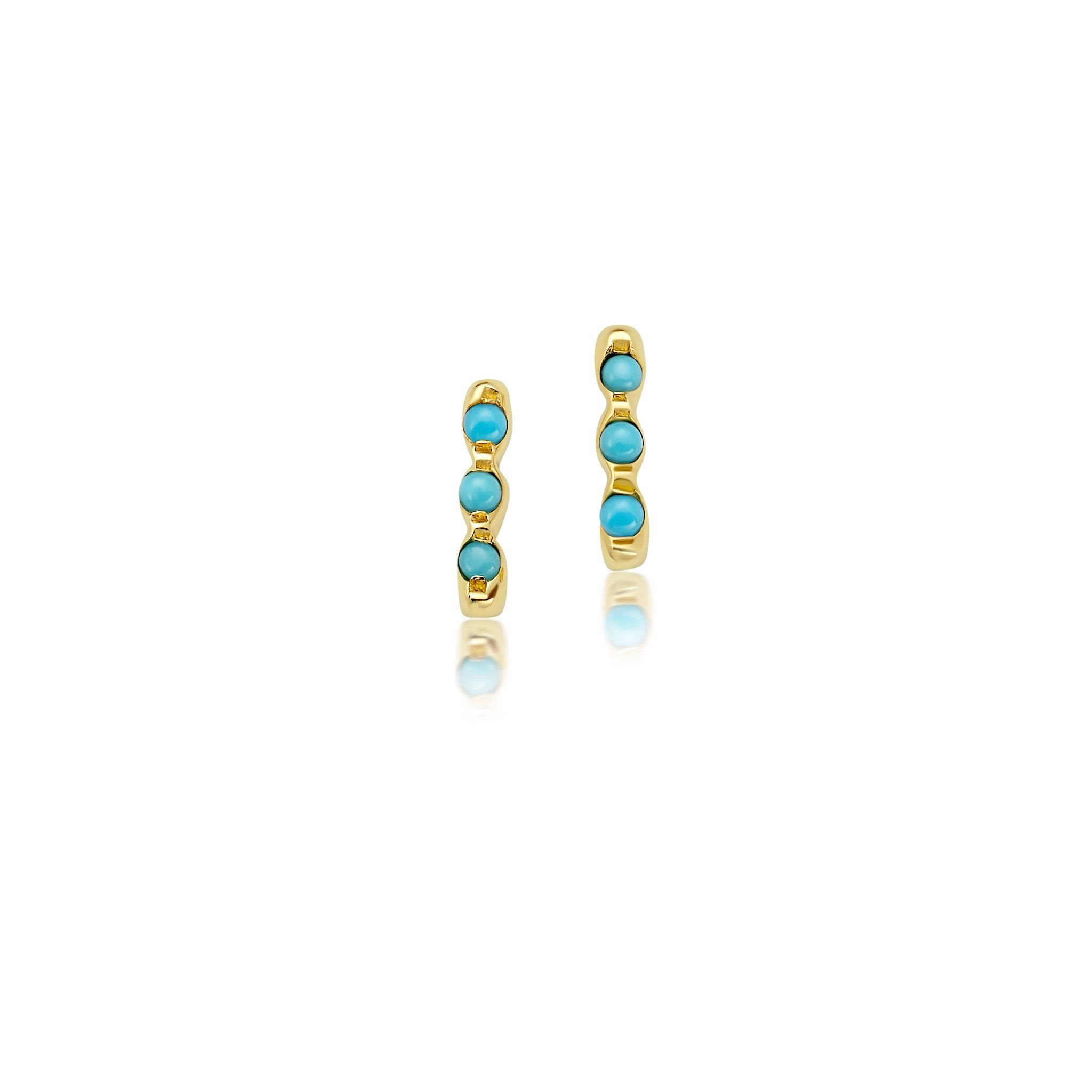 THREE TURQUOISE STONE EARRINGS Jewelry Bayou with Love