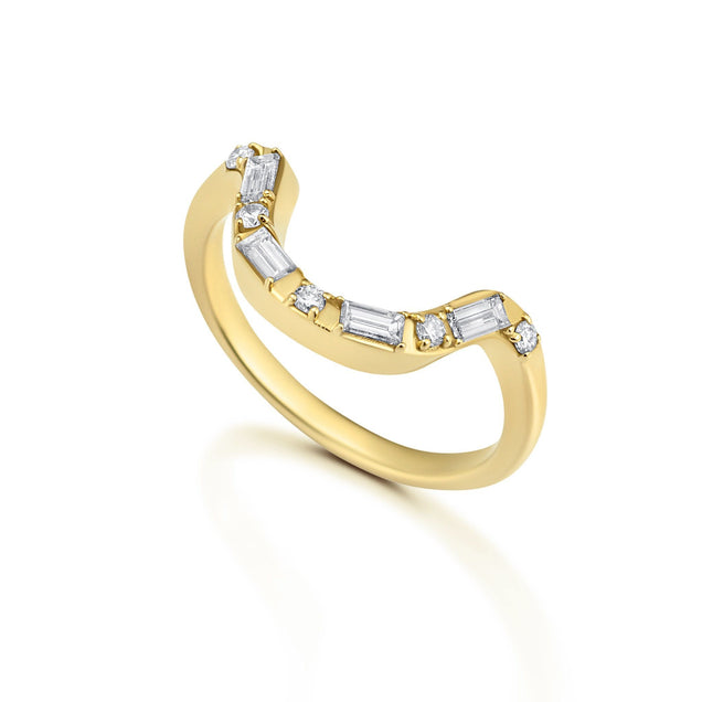 DIAMOND LUNAR NESTER Bridal Jewelry Bayou with Love