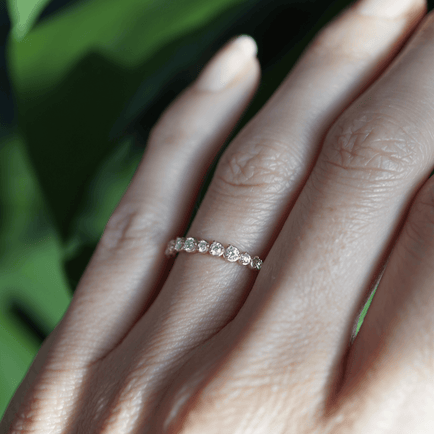ROUND DIAMOND BAND Bridal Jewelry Bayou with Love