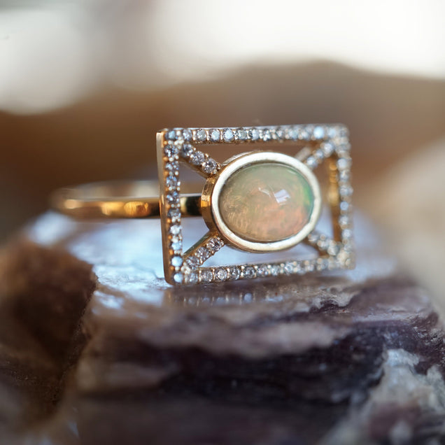 Opal X Ring Jewelry Bayou with Love