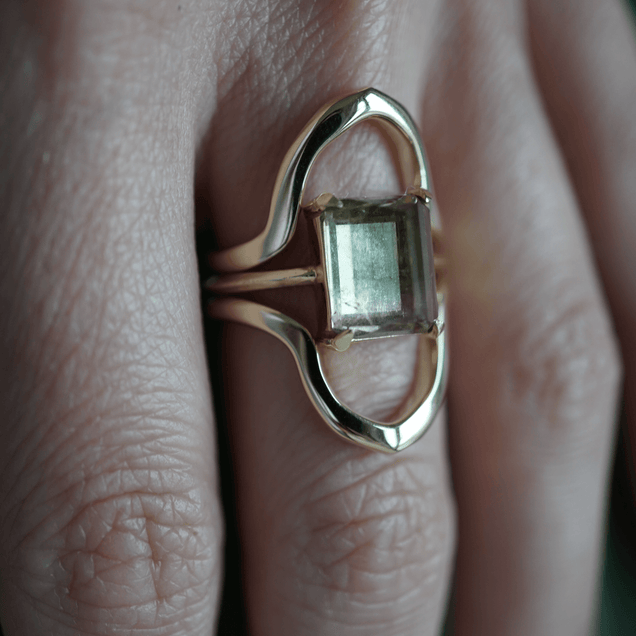 Bicolor Tourmaline Ring Bespoke Jewelry Bayou with Love
