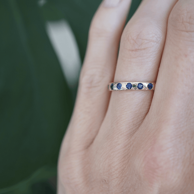 Forever Yours Sapphire Band Bridal Jewelry Bayou with Love