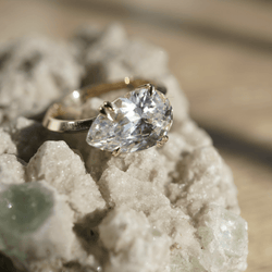 East West Pear Engagement Ring Bridal Jewelry Bayou with Love