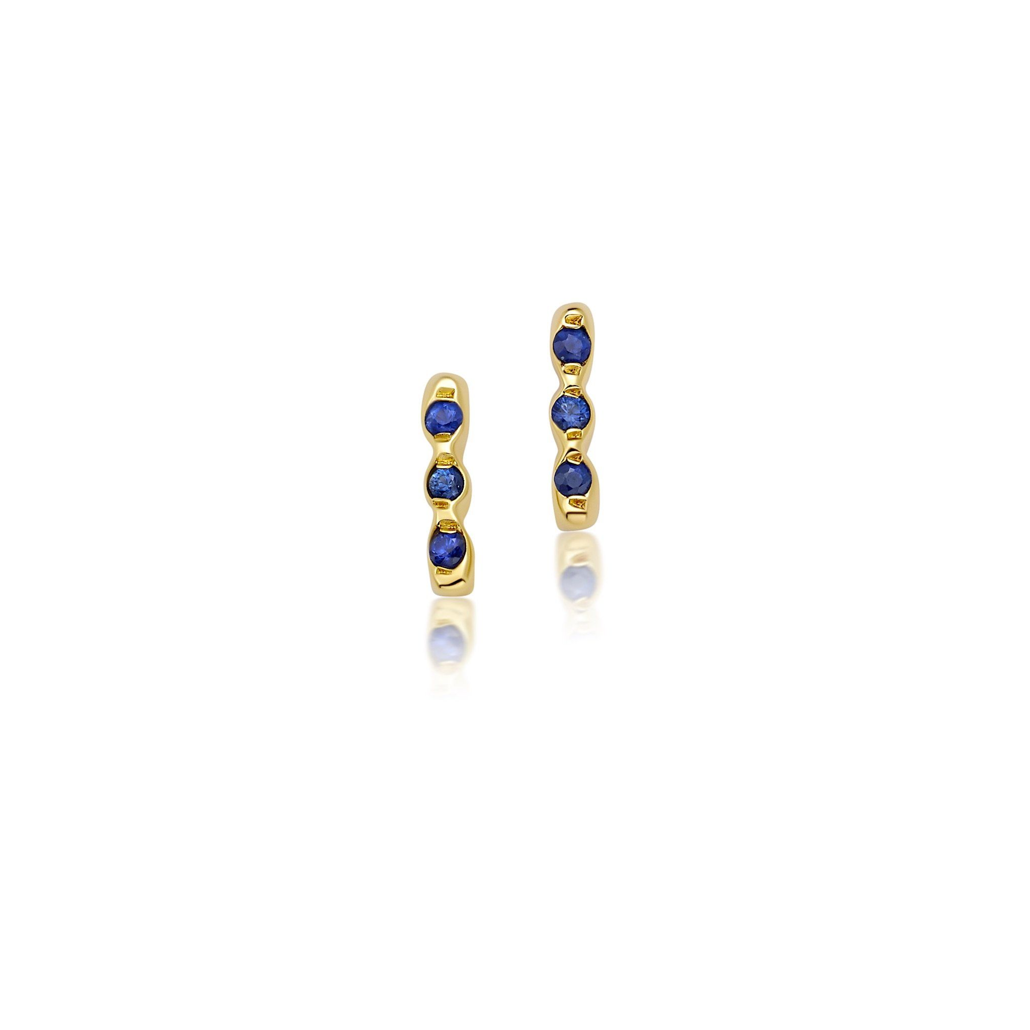 THREE SAPPHIRE STONE EARRINGS Jewelry Bayou with Love