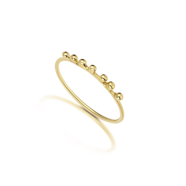 Gold Ball Ring Jewelry Bayou with Love