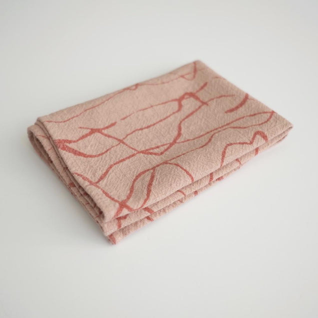 TEA TOWELS Home Jenny Pennywood WEAVE - TERRA COTTA/DUSTY CORAL