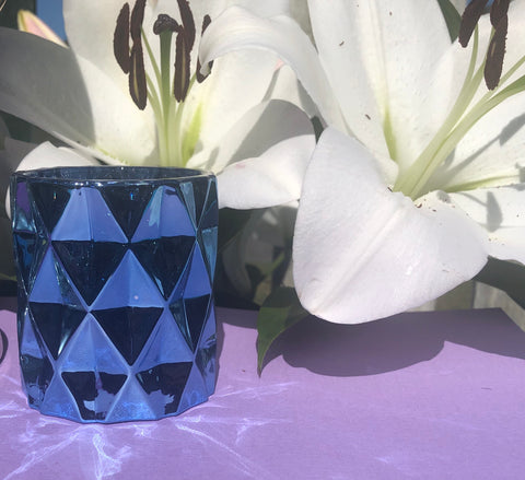 Mini Blue Rock Soy Candle