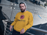 "Pop Savvee Clothing Shirts S / Gold / Cotton/Polyester Heavy Blend Unisex Sweatshirt With Red ""Pop Savvee Clothing"" Logo"
