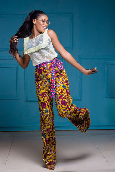 Mix Print Ankara Pants