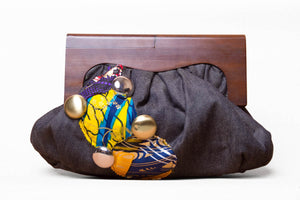Jeans and Ankara Clutch