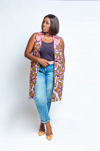 Double Pattern Ankara Jacket